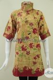 Dress Cantik Batik Solo,Dress BAtik Wanita Motif Terkini [DR088KT-XL]