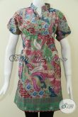 Model Trendy Batik Dress Wanita,Pakaian BAtik Wanita Model Dress Berkaret [DR124P-L]