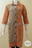 Dress Warna Orange Cantik, Batik Murah Berkualitas [DR2871P-M]