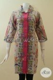 Dress Batik Modern Elegant Exclusive Mewah Murah [DR2948P-L]