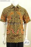 Model Baju Batik Pria Gaul, Kemeja Batik Solo Istimewa Lengan Pendek Motif Bagus Proses Tulis Lebih Mewah Dengan Daleman Full Furing Hanya 400 Ribuan [LD8525TF-L]