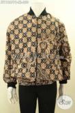 Jual Jaket Batik Bomber Halus Motif Elgan Proses Printing Cabut, Produk Batik Jaket Kekinian Pakai Furing Dormeuil, Tampil Gagah Dan Gaya [JT11867PB-XL]