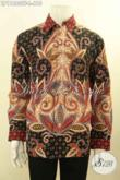 Pakaian Batik Pria Tangan Panjang Elegan Pakai Furing, Busana Batik Mewah Tulis Asli Motif Bagus Di Lengkpai Furing, Menunjang Penampilan Makin Istimewa [LP11880TF-L]