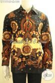 Produk Baju Batik Solo Nan Istimewa, Kemeja Batik Lengan Panjang Bagus Bahan Adem Proses Printing Motif Terkini, Elegan Untuk Kondangan Dan Acara Formal [LP11916P-M]