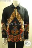 Kemeja Batik Solo Asli Model Tangan Panjang Bahan Halus Motif Bagus Proses Printing, Busana Batik Pria Untuk Kerja Dan Acara Formal [LP11928P-L]