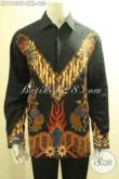 Produk Pakaian Batik Pria Lengan Panjang Spesial Untuk Yang Berbadan Gemuk, Busana Batik Solo Nan Istimewa Motif Bagus Tampil Gagah Berkelas [LP11939P-XXL]
