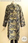 Produk Terbaru Blouse Batik Wanita Gemuk Desain Kerah Shanghai Lengan 7/8 Bahan Halus Motif Terkini Pakai Saku Dalam Dan Kancing Depan Tampil Stylish [BLS9107PB-XXL]