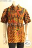 Model Baju Batik Pria Terkini, Hem Batik Solo Lengan Pendek Halus Motif Elegan Kombinasi Tulis, Pilihan Tepat Untuk Penampilan Gagah Dan Menawan [LD11957BT-L]
