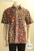 Kemeja Batik Solo Modern Klasik, Baju Batik Lengan Pendek Nan Istimewa Kwalitas Bagus Bahan Adem Motif Nan Elegan Jenis Cap Tulis, Tampil Keren Dan Kekinian [LD11975CT-M]