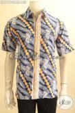 Kemeja Batik Pria Pola Motif Terbaru, Baju Batik Keren Warna Berkelas Proses Cap Model Lengan Pendek, Cocok Buat Ngantor Dan Hangout [LD11990C-M]
