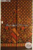 Jual Kain Batik Motif Elegan Klasik, Batik Solo Halus Jenis Kombinasi Tulis Bahan Busana Resmi Nan Berkelas Menunjang Penampilan Makin Sempurna [K3492BT-240x110cm]