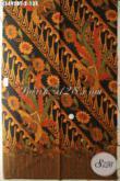 Kain Batik Halus Motif Elegan Dengan Sentuhan Klasik, Kain Batik Solo Kombinasi Tulis Bahan Busana Wanita Pria Buat Kerja Atau Acara Resmi [K3493BT-240x110cm]