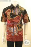Kemeja Batik Kerja Lengan Pendek Solo Halus Daleman Full Furing, Pakaian Batik Tulis Mewah Bahan Adem Yang Nyaman Di Pakai, Bisa Juga Untuk Kondangan [LD12021TF-L]