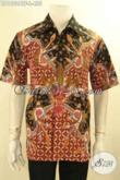 Kemeja Batik Lengan Pendek Khas Jawa Tengah, Busana Batik Tulis Halus Motif Elegan Daleman Full Furing, Bisa Untuk Santai Maupun Resmi [LD12024TF-L]