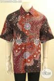 Sedia Kemeja Batik Pria Big Size, Baju Batik Tulis Lengan Pendek Mewah Pakai Furing Motif Terbaru Spesial Untuk Pria Gemuk Tampil Berkelas [LD12033TF-XXL]
