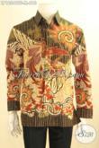 Kemeja Batik Tulis Pria Lengan Panjang Mewah Dengan Daleman Full Furing, Busana Batik Elegan Motif Terbaru Cocok Untuk Acara Resmi [LP12049TF-M]