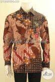 Kemeja Batik Formal Lengan Panjang Mewah Khas Jawa Tengah, Pakaian Batik Solo Terbaik Jenis Tulis Daleman Full Furing, Pas Banget Untuk Kondangan Dan Ngantor [LP12059TF-L]