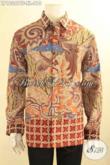 Olshop Busana Batik Terlengkap, Sedia Kemeja Batik Mewah Lengan Panjang Jenis Tulis Khas Solo, Pakaian Batik Premium Full Furing Pilihan Pria Sukses Untuk Tampil Berkelas [LP12067TF-XL]