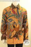 Kemeja Batik Jumbo Lengan Panjang Jenis Batik Kombinasi Tulis, Pakaian Batik Elegan Full Furing Untuk Pria Gemuk Tampil Tampan Mempesona [LP12092BTF-XXXL]