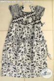 Jual Online Baju Batik Anak Perempuan Desain Kekinian, Bahan Halus Motif Elegan Berpadu Warna Hitam Putih, Bisa Untuk Acara Santai Maupun Resmi [AW9218C-Umur 6,7,8 Tahun]