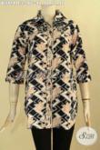 Jual Pakaian Batik Modern Desain Elegan Motif Keren Jenis Cap, Busana Batik Atasan Untuk Seragam Kerja Dan Ke Acara Resmi Tampil Gaya [BLS9149C-L]