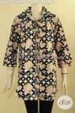 Busana Batik Berkerah Ukuran Jumbo Desain Elegan, Baju Batik Blouse Solo Asli Spesial Untuk Wanita Gemuk, Bisa Untuk Acara Resmi Atau Ngantor [BLS9161C-XXL]