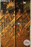 Jual Kain Batik Solo Halus Motif Mewah Elegan Klasik, Batik Kain Istimewa Bahan Busana Wanita Maupun Pria Hanya 100 Ribuan Saja [K3504BT-200x110cm]