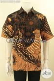 Busana Batik Modern Pria Muda Maupun Dewasa Hadir Dengan Motif Elegan Jenis Tulis Soga, Pakaian Batik Premium Buatan Solo Aslli Full Furing, Menunjang Penampilan Tampan Maksimal [LD12118TSF-L]