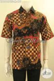 Baju Batik Casual Pria Lengan Pendek Motif Terbaru Tulis Lasem, Busana Batik Kemeja Cowok Mewah Full Furing Desain Kekinian Bisa Untuk Acara Santai Maupun Resmi [LD12127TSF-M]