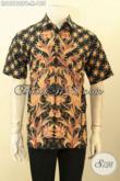 Batik Kemeja Pria Lengan Pendek Motif Trendy Proses Printing Cabut Kwalitas Bagus, Cocok Buat Ngantor Dan Kondangan [LD12196PB-M]