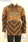Kemeja Batik Pejabat Mewah Lengan Panjang Pakai Furing, Busana Batik Premium Tulis Soga Pilihan Tepat Untuk Tampil Sempurna [LP12140TSF-M]