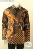 Kemeja Batik Pria Gemuk, Busana Batik Solo Elegan Panjang Full Furing Motif Terbaru Jenis Tulis Soga, Pilihan Terbaik Untuk Tampil Sempurna [LP12150TSF-XXL]