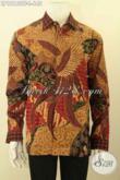 Busana Batik Mewah Pria Lengan Panjang Terkini, Baju Batik Premium Tulis Lasem Nan Berkelas Daleman Full Furing, Bisa Untuk Seragam Kerja Maupun Ke Pernikahan [LP12160TF-L]