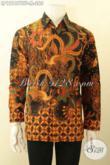 Pusat Baju Batik Online Terlengkap Dan Up To Date, Jual Kemeja Batik Lengan Panjang Motif Elegan Klasik Kombinasi Tulis Pakai Furing Yang Menunjang Penampilan Lebih Berkelas [LP12187BTF-M]