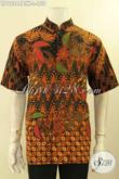 Baju Batik Pria Elegan Motif Bagus Proses Kombinasi Tulis, Busana Batik Kerja Lengan Pendek Model Kerah Koko Atau Shanghai Kwalitas Istimewa Harga Murah [LD12244BTK-L]