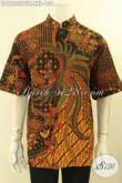 Produk Baju Batik Pria Masa Kini Model Kerah Koko, Kemeja Batik Istimewa Untuk Pria Gemuk Masa Kini Yang Menunjang Penampilan Makin Sempurna [LD12255BTK-XXL]