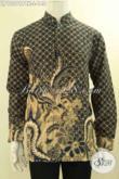 Olshop Pakaian Batik Terlengkap Se-Indonesia, Jual Kemeja Batik Kerah Shanghai Istimewa Bahan Halus Motif Elegan Jenis Print Cabut, Menunjang Penampilan Gagah Maksimal [LP12291PBK-L]