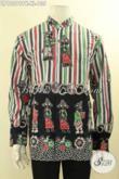 Busana Batik Pria Dewasa Motif Kekinian, Pakaian Batik Solo Kerah Shanghai Kwalitas Bagus Cocok Untuk Kerja Maupun Acara Resmi, Kemeja Batik Solo Asli Menunjang Penampilan Makin Sempurna [LP12299PK-XL]