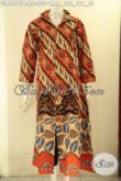 Baju Gamis Motif Elegan Klasik Warna Bagus Jenis Printing, Pakaian Batik Wanita Berhijab Model Resleting Depan Menunjang Penampilan Lebih Anggun Dan Mewah [GM9376P-M]
