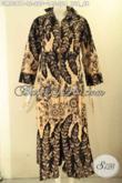 Baju Gamis Modern Untuk Acara Resmi Maupun Santai, Model Gamis Batik Resleting Depan Motif Terkini Kwalitas Istimewa, Tampil Cantik Menawan [GM9381P-L]
