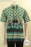 Kemeja Batik Trendy Model Lengan Pendek Motif Unik Dan Modis, Baju Batik Pria Muda Untuk Penampilan Terlihat Fresh Dan Keren [LD12301P-L]