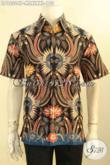 Koleksi Terbaru Kemeja Batik Pria Lengan Pendek Motif Bagus Jenis Printing, Aneka Busana Batik Kekinian Yang Bikin Penampilan Lebih Gagah Dan Tampan [LD12304P-L]