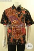 Produk Terbaru Busana Batik Pria Model Lengan Pendek, Kemeja Batik Tulis Premium Motif Bagus Bahan Halus Di Lengkapi Lapisan Furing, Istimewa Untuk Acara Resmi [LD12375TF-L]