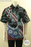 Produk Pakaian Batik Pria Untuk Kondangan Dan Acara Resmi Model Lengan Pendek Full Furing, Busana Batik Kwalitas Premium Jenis Tulis Hanya 465K [LD12404TF-XL]