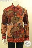 Busana Batik Pria Dewasa Lengan Panjang Mewah Pakai Furing Motif Terbaru, Baju Batik Istimewa Yang Bikin Penampilan Gagah Menawan [LP12345TF-XL]