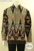 Kemeja Batik Solo Terbaru Motif Mewah Harga Murah, Pakaian Batik Pria Lengan Panjang Non Furing Bahan Halus Nyaman Di Pakai [LP12369PB-L]