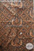 Koleksi Terbaru Kain Batik Premium Motif Sidoluhur Lar Nan Mewah Warna Elegan Klasik, Batik Tulis Soga Istimewa Cocok Untuk Acara Formal Dan Upacara Adat Jawa Tengah [K3583TS-240x105cm]