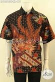 Produk Baju Batik Pria Dewasa Lengan Pendek, Kemeja Batik Solo Jenis Tulis Motif Bagus Di Lengkapi Lapisan Furing Untuk Penampilan Terlihat Mewah [LD12513TF-XL]