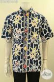 Pusat Baju Batik Pria Online Terlengkap, Jual Kemeja Lengan Pendek Modis Motif Keren Jenis Cap, Pakaian Batik Tren Masa Kini Cocok Buat Kerja Dan Santai [LD12537C-L]