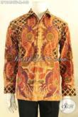Kemeja Batik Lengan Panjang Mewah Pakai Furing, Baju Batik Tulis Solo Motif Elegan Untuk Pria Masa Kini Tampil Gagah Dan Berwibawa [LP12454TF-M]